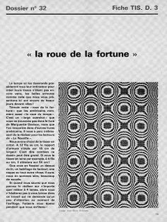 WEAVING LIBRARY : DOBBY FABRIC / FIGURED FABRIC / JACQUARD AND DRAWLOOM STUDY: La roue de la fortune (the wheel of fortune)