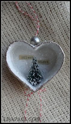 "Beautiful Handmade ""Silent Night"" Ornament by Lisa Pace... too bad it's already sold!"