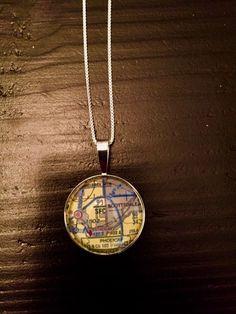 Pilot Jewelry: Phoenix (Scottsdale) Map Pendant #aviationjewelry #giftsforpilots #mappendant #phoenix #scottsdale