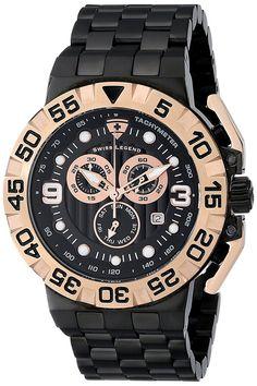 Swiss Legend Men's 10125-BB-11-RA Challenger Analog Display Swiss Quartz Black Watch *** See this great watch.