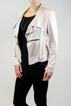 Cropped jacket with zipper detail. Great for a night out with the girls. Cracked Pleather Jacket by Insight. Clothing - Jackets, Coats & Blazers - Jackets - Leather Iowa