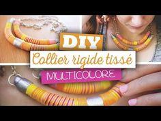 DIY Bijoux // Créer un collier plastron métallisé en pâte fimo - YouTube
