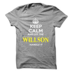 "[Best tshirt name meaning] Keep Calm And Let WILLSON Handle It  Teeshirt of year  If you dont like this shirt no problem you can search another shirt at ""SEARCH BOX"" on the TOP  Tshirt Guys Lady Hodie  SHARE TAG FRIEND Get Discount Today Order now before we SELL OUT  Camping be wrong i am bagley tshirts keep calm and let willson handle it"