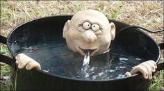 Brunnenfigur Kopf und Hände
