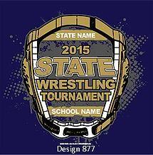 0455e050 Cricket School & Team- Custom High School State Wrestling T-Shirt Design  with FREE