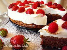 Fotorecept: Ovocná mini torta s tvarohom a jahodami