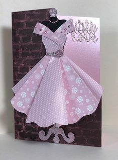 Best 12 Template for paper dress More More – BuzzTMZ Pretty Cards, Cute Cards, Diy Cards, Homemade Birthday Cards, Homemade Cards, Fancy Fold Cards, Folded Cards, Dress Card, Mothers Day Cards