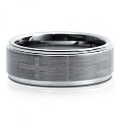 Step-Down Design Brushed Tungsten Carbide Ring Band Comfort Fit 8mm #r437