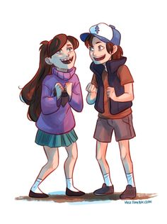 Excited fro Adventure | Dipper & Mabel Pines | Gravity Falls