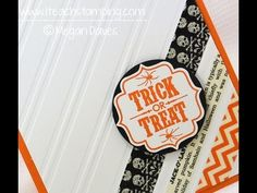Easiest DIY Halloween Greeting Card Using Washi Tape and Stamps - YouTube