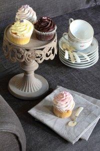 Cupcake al limone con glassa alla vaniglia