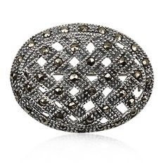 Joyeria Plata y Azabache Artesania Galicia Home Page Silver and Black Jet Crafts Jewelry Crafts Silver Brooch, Retro Chic, Marcasite, Jewelry Crafts, Hair Clips, Decorative Bowls, Tax Free, Jewels, Sterling Silver