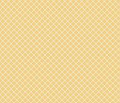 Pieced Yellow fabric by ©_lana_gordon_rast_ on Spoonflower - custom fabric