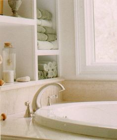 Love The Shelving Above The Garden Tub