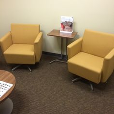 Staples (Pembroke, FL) Fringe club chairs/lounge furniture in collaborative/open space.  #NationalOffice  #FurnitureWithPersonality