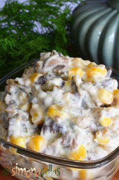 Salata de ciuperci cu maioneza Cheeseburger Chowder, Macaroni And Cheese, Oatmeal, Food And Drink, Soup, Breakfast, Ethnic Recipes, Festivus, Food