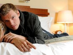 Nick Carter On His Hotel Bed.