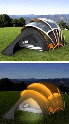 Solar Powered Tent for your Vacations.