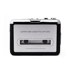 USB Cassette Tape Converter Converter Music Player Audio Capture Platform for PC MP3