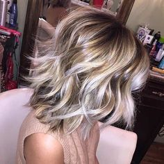 45 ideas hair cuts choppy shoulder length bob hairstyles for 2019 Damp Hair Styles, Medium Hair Styles, Short Hair Styles, Hair Medium, Layers For Medium Hair, Medium Choppy Layers, Bob With Layers, Long Bob Haircut With Layers, Blonde Bob Haircut