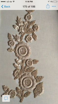 Pearl Embroidery, Zardozi Embroidery, Tambour Embroidery, Embroidery Works, Indian Embroidery, Embroidery Suits, Embroidery Fashion, Hand Embroidery Designs, Embroidery Stitches