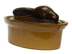Vintage French Country Pottery Rabbit Casserole by LeBonheurDuJour