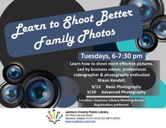 THIS PROGRAM HAS EXPIRED -- Volunteer Shaun Kendall will show you how to shoot better photos.