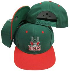 Milwaukee Bucks Green/Red Two Tone Plastic Snapback Adjustable Plastic Snap Back Hat / Cap by adidas. $8.99. 100% cotton. Embroidered graphics on hat. Stay in style with this adjustable snapback by Adidas