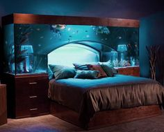 awesome fish | Awesome Fish Tank Headboard Design Ideas for Luxurious Bedroom