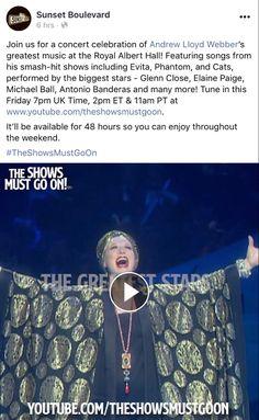 Elaine Paige, Glenn Close, Royal Albert Hall, 101 Dalmatians, Big Star, Songs, Sunset, Concert, Celebrities