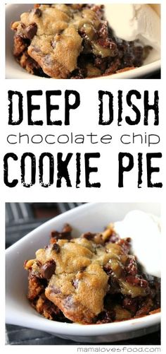 Personalized Graduation Gifts - Ideas To Pick Low Cost Graduation Offers Deep Dish Chocolate Chip Cookie Pie Recipe Pie Recipes, Great Recipes, Cookie Recipes, Favorite Recipes, Dinner Recipes, Vegan Recipes, Chocolate Chip Shortbread Cookies, Chocolate Chip Cookie Brownies, Crack Crackers