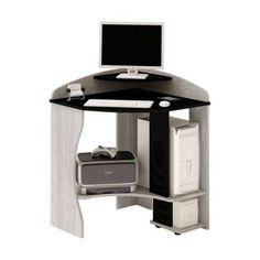 Mesa Para Computador Java Cinza E Preto Artely