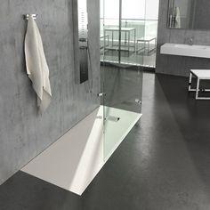 Lo stile del tuo bagno passa anche dalla scelta del piatto #doccia: scopri l'eleganza e la raffinatezza della linea Ardesia Grandform #design #bathroom