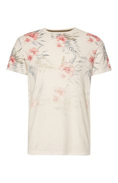 Floral Faded Print T-Shirt Custom Made T Shirts, Surf Wear, Future Fashion, Polo T Shirts, Swag Outfits, Printed Shirts, Shirt Style, Shirt Designs, Menswear