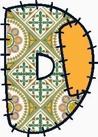 Alfabeto hecho con recortes de tela. | Oh my Alfabetos!