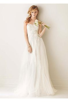 Melissa Sweet Pleated Wedding Dress with Tulle MS251062