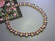 Tutorial Princess Necklace Arcos and Minos Kheops Super | Etsy Unique Bracelets, Unique Necklaces, Beading Tutorials, Beading Patterns, Super Duo Beads, Beads And Wire, Beaded Jewelry, Beaded Necklaces, Necklace Lengths