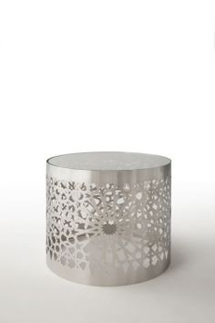 Glass contemporary coffee table (metal base) - ARABESQUE by Mouna & Silvio Russo - Nienkamper