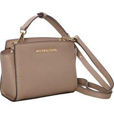 MICHAEL Michael Kors Selma Mini Messenger Crossbody Bag (€160) ❤ liked on…