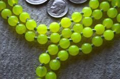 108 Jade Green Hand Knotted Mala Beads Necklace Blessed En   eBay