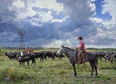 Silent Cowboy Sunday. Via Tim Cox Fine Art.