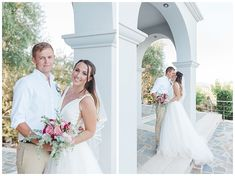 Luxury villa wedding in lefkada island, Greece. Destination wedding villa. Bride and Groom couple shoot. Stella York dress