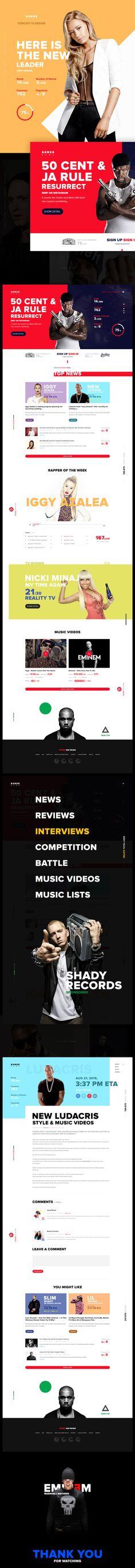Gangs News - Concept UI Design on Behance