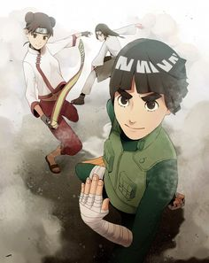 Tenten, Neji and Rock Lee - Team 9 Naruto Shippuden, Boruto, Neji E Tenten, Narusasu, Gaara, Naruhina, Sasuke, Rock Lee, Anime Naruto