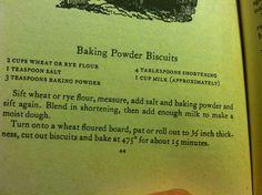 Rye baking powder biscuits