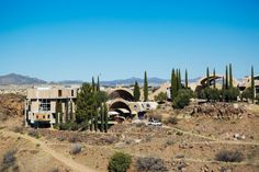 Arcosanti - In Arizona: At the end of an unassuming, washboarded dirt road off I-17 halfway between Flagstaff and Phoenix, the complex has been under construction now for nearly 45 years.