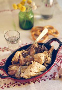 Receta 831: Pollo al ajillo » 1080 Fotos de cocina