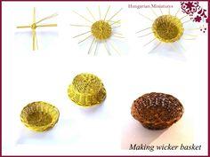 My tiny world: Dollhouse miniatures: How to make miniature wicker basket