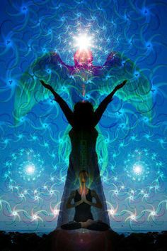 """Although you appear in earthly form, your essence is pure consciousness. You are the fearless guardian of Divine Light."" RUMI ~ Art by Light Worker"