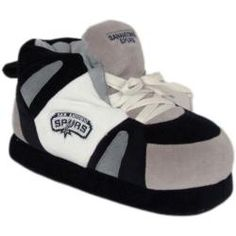 I want these so badly! Someone buy them for me. Spurs Game, On Shoes, Baby Shoes, Nba Store, Black Slippers, San Antonio Spurs, Grey And White, Adidas Sneakers, Comfy
